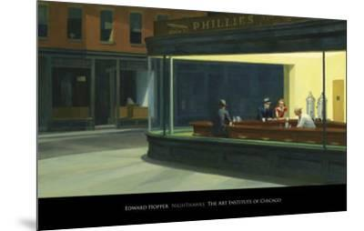 Nighthawks, c.1942-Edward Hopper-Mounted Art Print