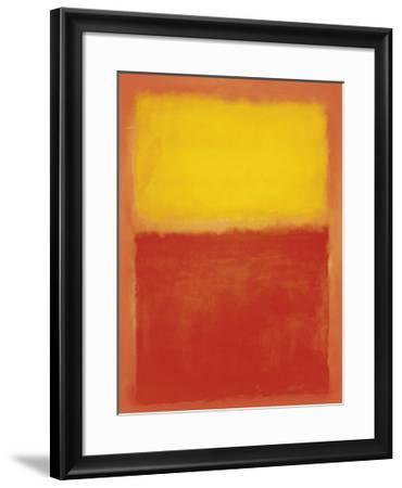 Orange and Yellow-Mark Rothko-Framed Art Print