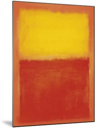 Orange and Yellow-Mark Rothko-Mounted Art Print
