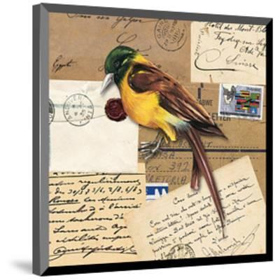 Birds Letters VII--Mounted Art Print
