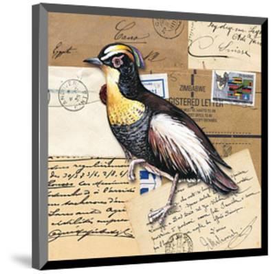 Birds Letters VIII--Mounted Art Print