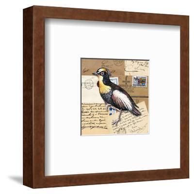 Birds Letters VIII--Framed Art Print