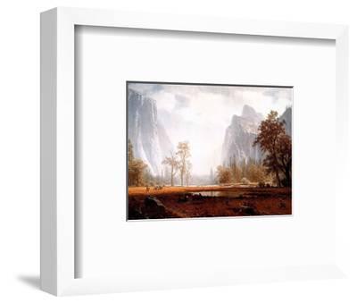Looking Up the Yosemite Valley-Albert Bierstadt-Framed Mini Poster