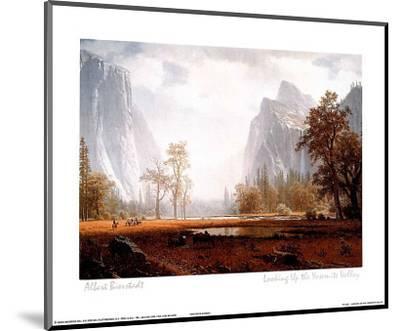 Looking Up the Yosemite Valley-Albert Bierstadt-Mounted Mini Poster