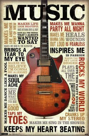 Music Inspires Me--Poster