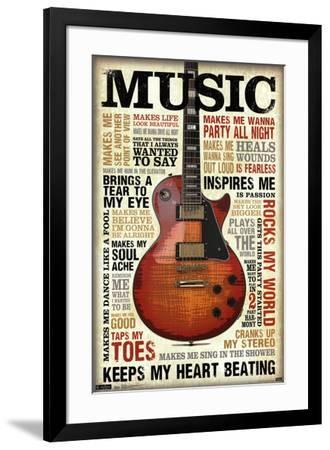 Music Inspires Me--Framed Poster