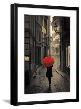 Red Rain-Stefano Corso-Framed Art Print