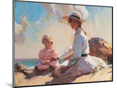 Summer On The Beach-John Richard Townsend-Mounted Art Print