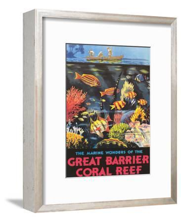 Great Barrier Coral Reef c.1933-Frederick Phillips-Framed Giclee Print