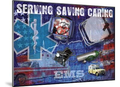 Serving Saving Caring-Jim Baldwin-Mounted Art Print