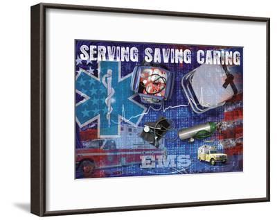 Serving Saving Caring-Jim Baldwin-Framed Art Print