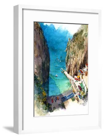 Marina de Praia - Amalfi Coast-Bruce White-Framed Premium Giclee Print