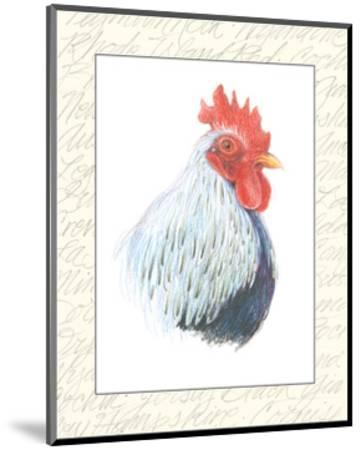 Rooster Insets II-Elissa Della-piana-Mounted Art Print