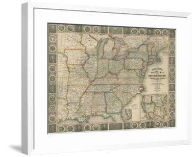 Travellers Guide to the US-J^M^ Atwood-Framed Giclee Print