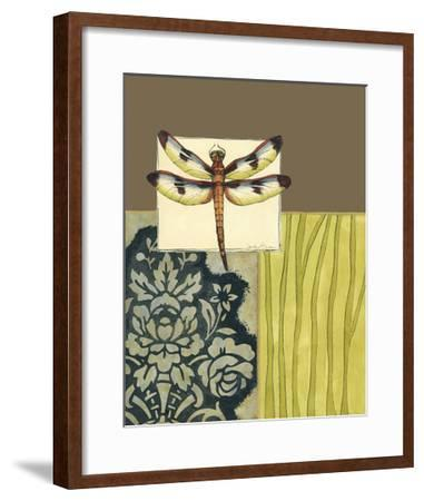Dragonfly Tapestry IV-Jennifer Goldberger-Framed Premium Giclee Print