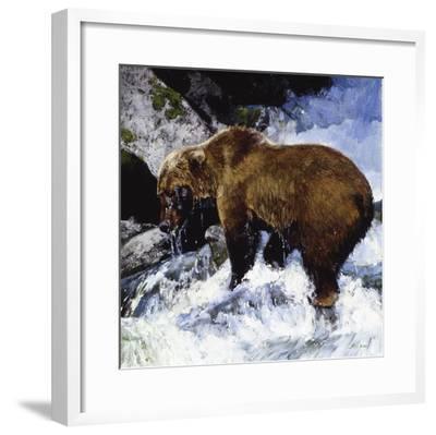 Katmai Cascade-Julie Chapman-Framed Art Print