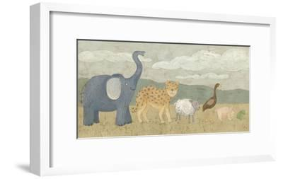 Animals All in a Row I-Megan Meagher-Framed Art Print