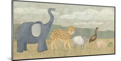 Animals All in a Row I-Megan Meagher-Mounted Art Print