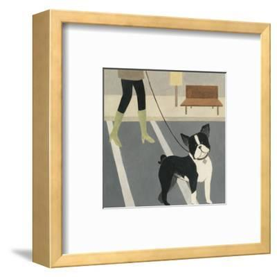City Dogs III-Megan Meagher-Framed Art Print