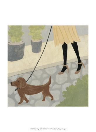 City Dogs IV-Megan Meagher-Mounted Art Print