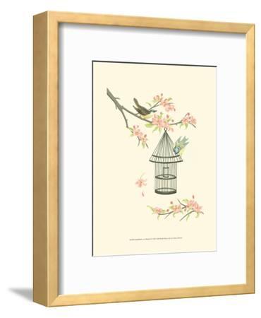 Small Birds on a Branch I-Nancy Slocum-Framed Art Print