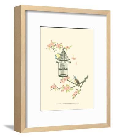 Small Birds on a Branch II-Nancy Slocum-Framed Art Print