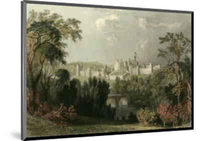 Ainwick Castle-T^ Allom-Mounted Art Print