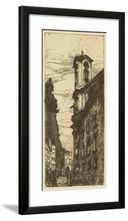 Town Hall II- Pfaff-Bader-Framed Giclee Print