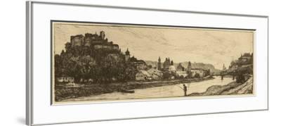 Salzburg Riverbank--Framed Giclee Print