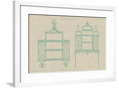 Chinese Chippendale Cabinet II--Framed Giclee Print