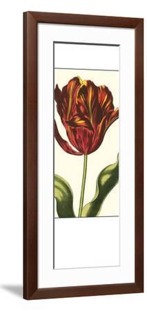 Antiqued Tulip Panel I--Framed Giclee Print