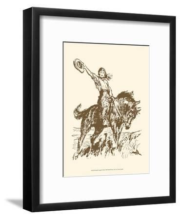 Small Cowgirl--Framed Art Print