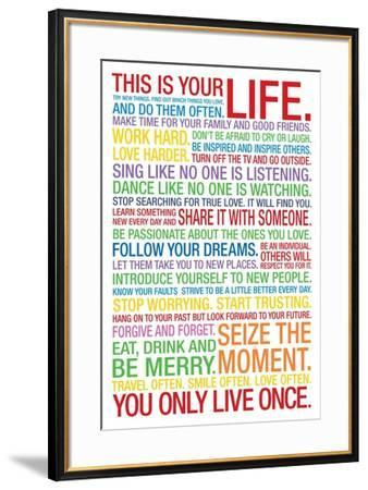 This is Your Life--Framed Poster