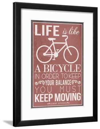 Life Is Like a Bicycle--Framed Poster