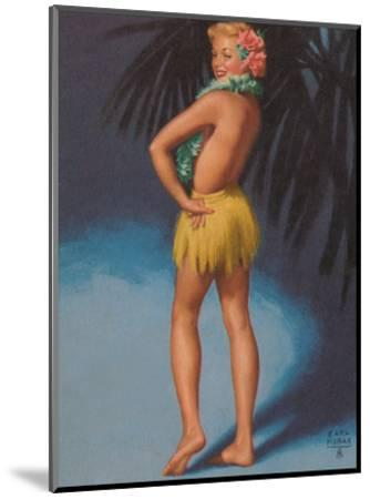 Hula Pin Up Marylin Monroe c.1951-E^ Moran-Mounted Art Print