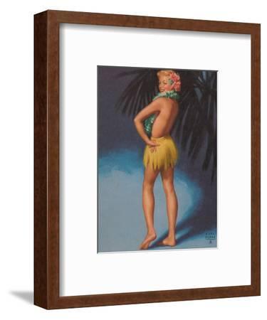 Hula Pin Up Marylin Monroe c.1951-E^ Moran-Framed Art Print