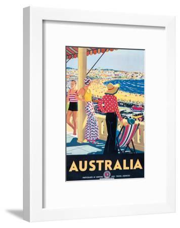 Australia Beach c.1929-Percy Trompf-Framed Giclee Print