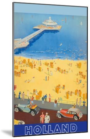 Holland Beach, Scheveningen Pier c.1950s--Mounted Art Print