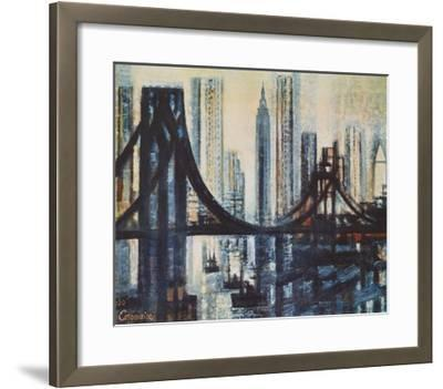 The Brooklyn-Bridge-Marcel Gromaire-Framed Collectable Print
