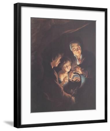 Old Woman with a Brazier-Peter Paul Rubens-Framed Collectable Print