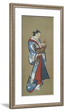 Courtesan with a Toy--Framed Art Print