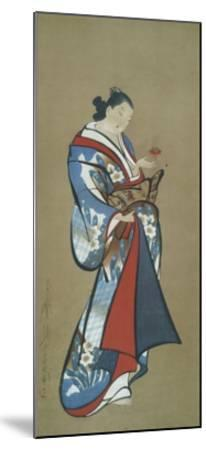 Courtesan with a Toy--Mounted Art Print