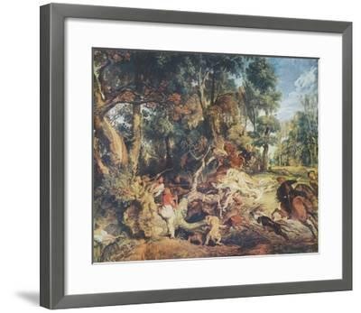 The Wild Boar Hunt-Peter Paul Rubens-Framed Collectable Print