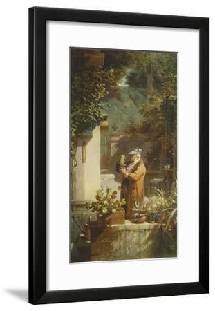 The Pensioner (large)-Carl Spitzweg-Framed Collectable Print