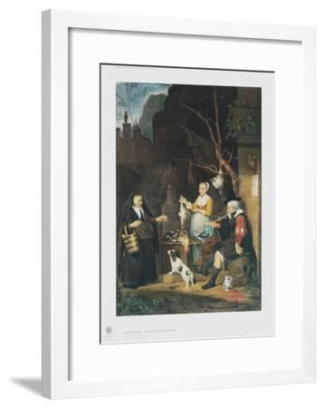 The Poultry Vendor, Young Woman-Gabriel Metsu-Framed Collectable Print