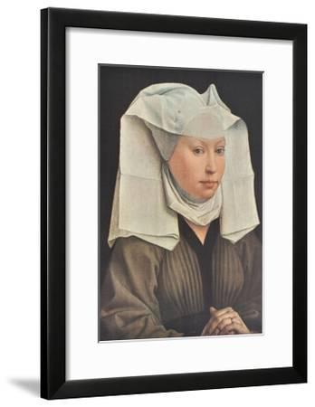Portrait of a Young Woman-Rogier Weyden-Framed Collectable Print