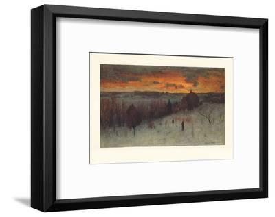 Landscape at Dawn-George Inness-Framed Collectable Print