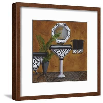 Safari Sink in Zebra-Cat Heartgeaves-Framed Art Print