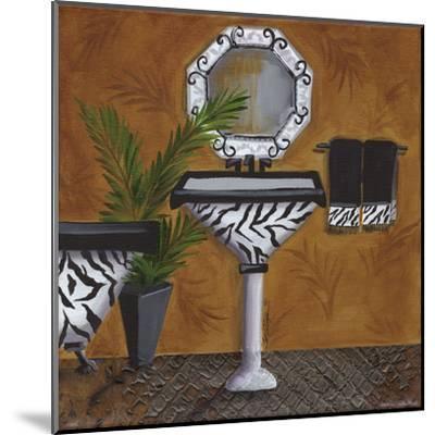 Safari Sink in Zebra-Cat Heartgeaves-Mounted Art Print