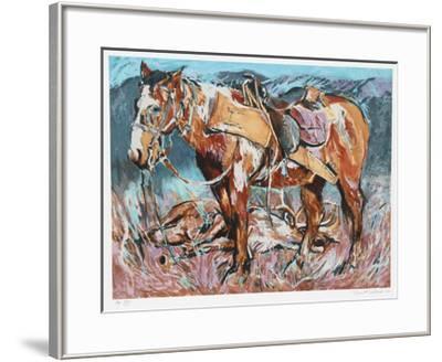 Hunters Horse-Everett Hibbard-Framed Limited Edition